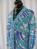 1960's Vintage PUCCI ultramarine print loungewear coverage *SOLD* es